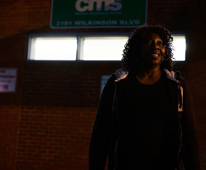 Mona Hill, homeless bus driver, February 2020