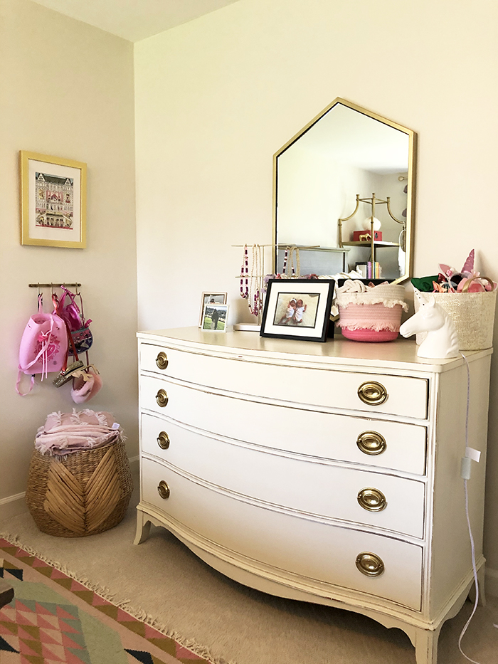 Madeline Hughes Home Tour girl's room dresser