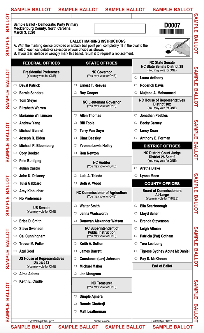 Agenda Guide To The Primary Elections Including Polling Hours And Other Races On The Ballot Charlotte Agenda