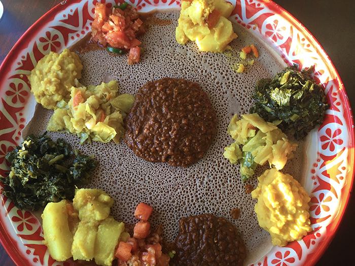 Abugida Ethiopian Restaurant Central Avenue Veggie Platter