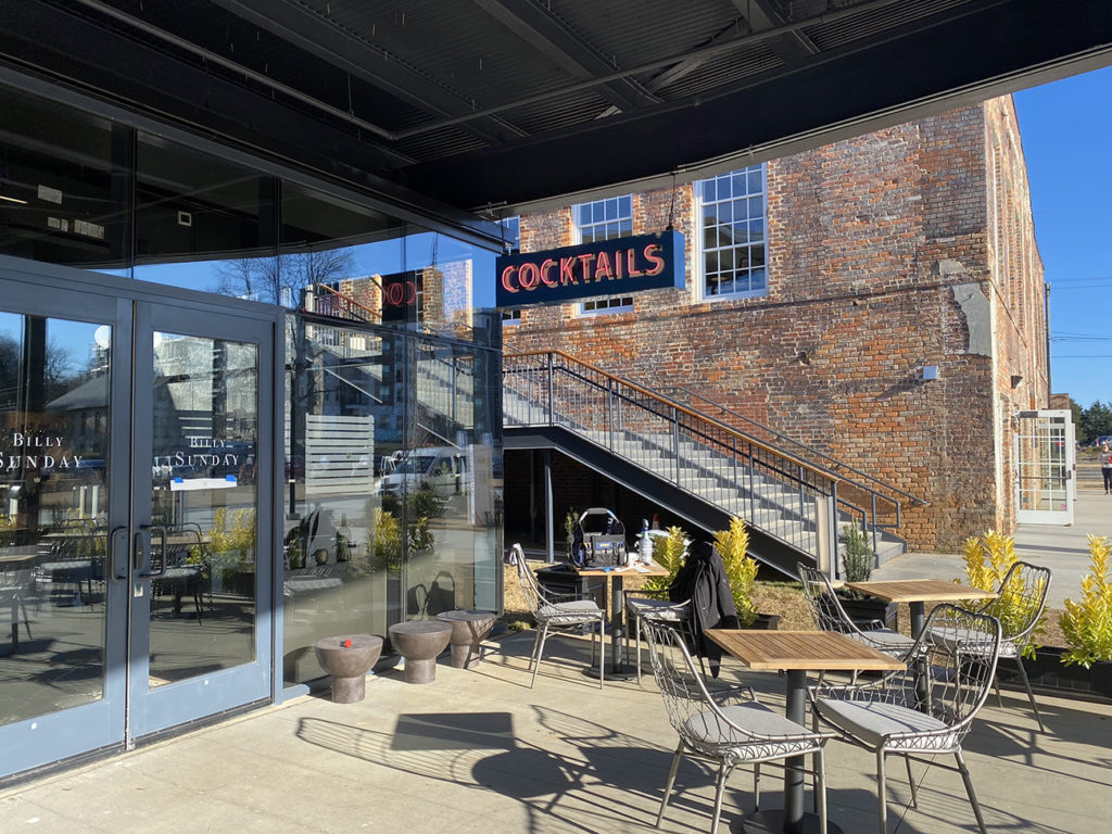 Cocktail bar Billy Sunday is now open in Optimist Hall