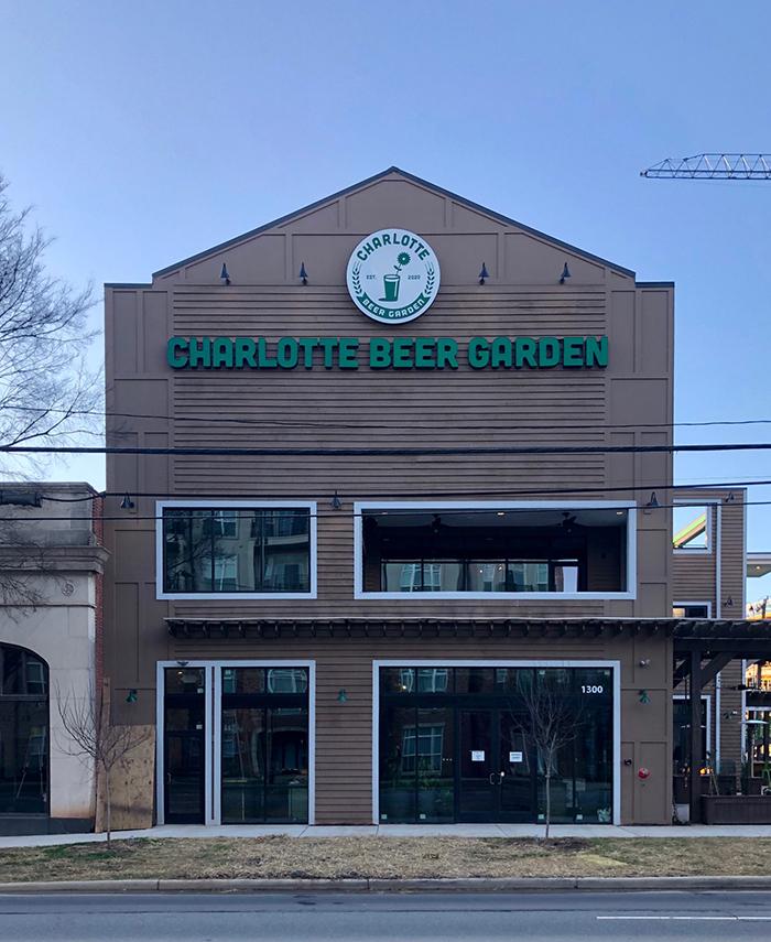 location of charlotte beer garden