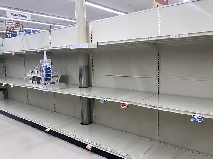 Food Lion shelves