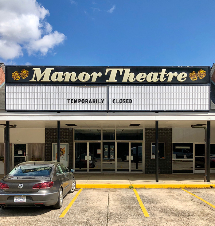 manor theater charlotte closed