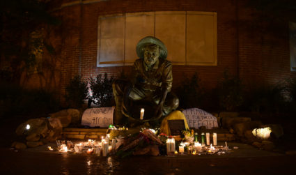 Photo essay: One year after deadly shooting, UNC Charlotte mourns virtually