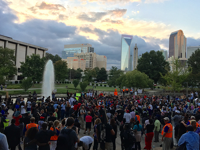 Charlotte protests photo from 2016