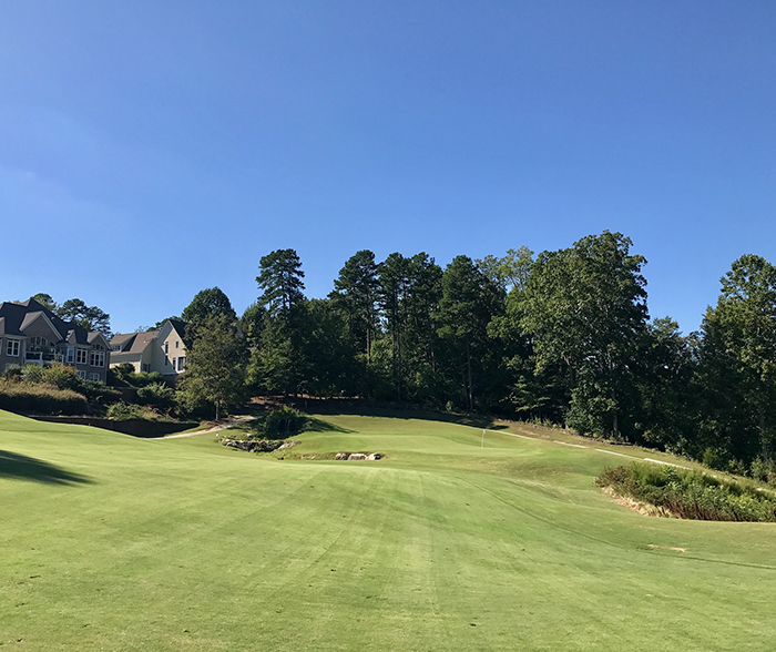 9th golf hole at verdict ridge golf course