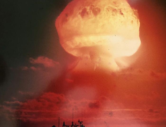 WWII Veteran Art Rogers' hydrogen bomb photo