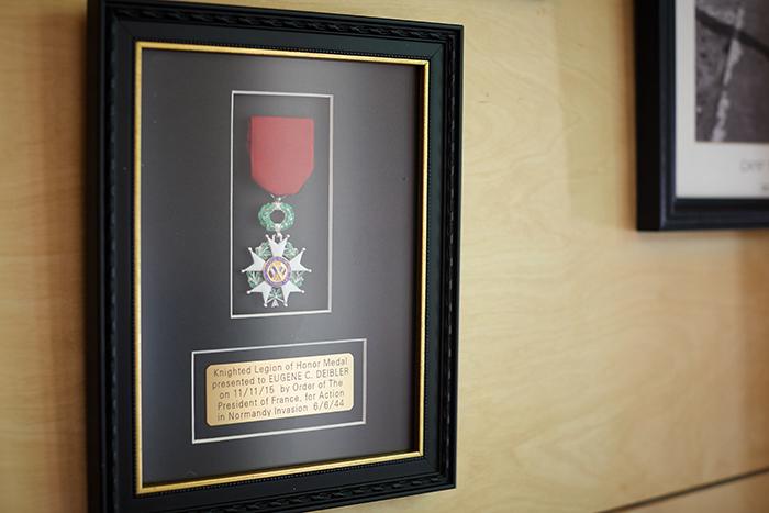 """WWII veteran Eugene """"Doc"""" Deibler's Legion of Honor Medal"""