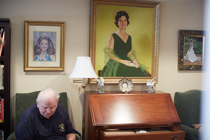"""WWII Veteran Eugene """"Doc"""" Deibler at his south Charlotte home"""