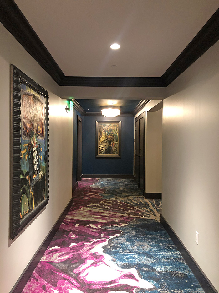 Grand Bohemian hallways and art