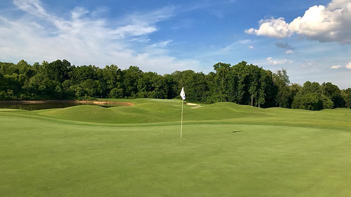 skybrook golf course hole 15 charlotte