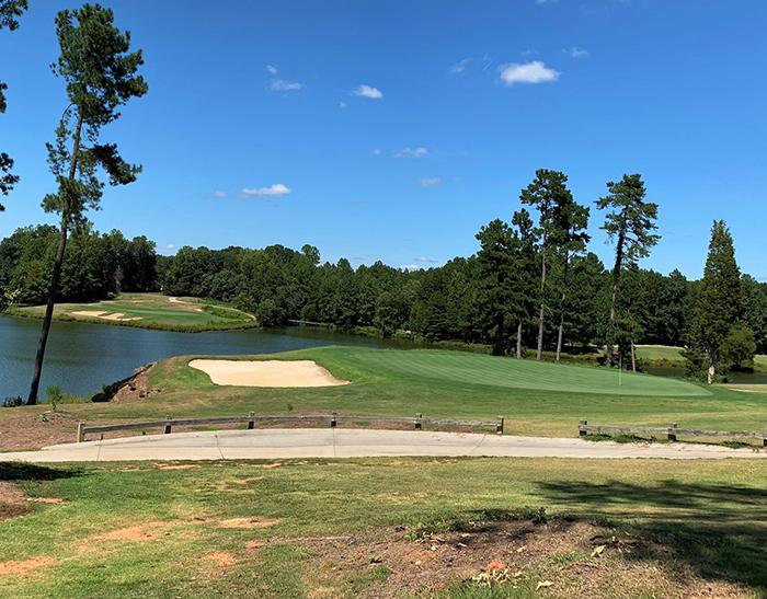 warrior golf club 18 golf hole