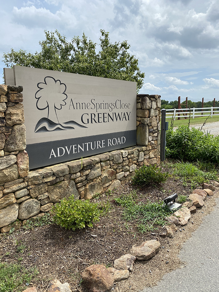 Anne Close gateway sign Fort Mill
