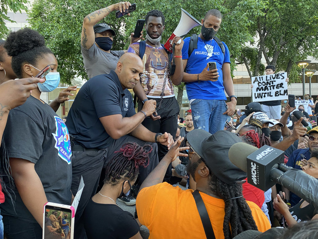 Charlotte protesters demand answers from city leaders and police following viral video