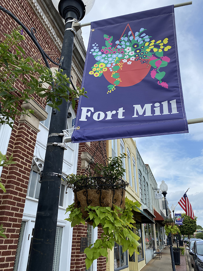 Fort Mill sign main street