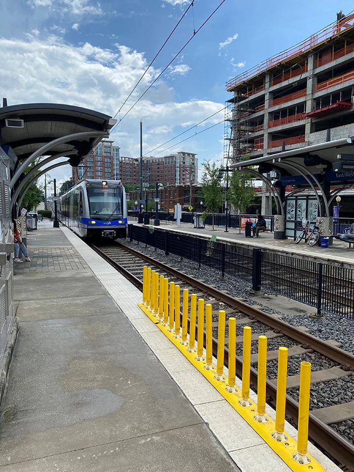 The Blue Line light rail in Charlotte
