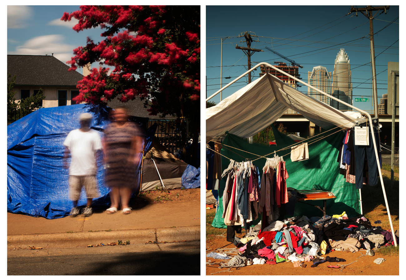 Special report: 10 days in tent city with the 'new faces' of homelessness in Charlotte
