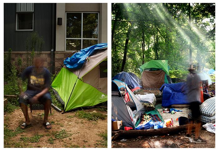 Tent City Covid 2020 long exposure