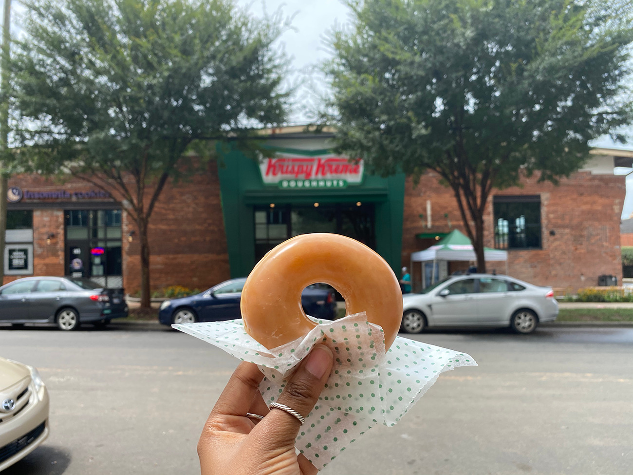 Krispy Kreme opens today in South End with a 24-hour vending machine