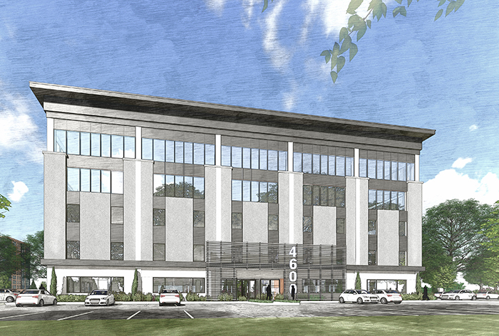 Rendering of 4600 Park Road (courtesy of Foundry Commercial)