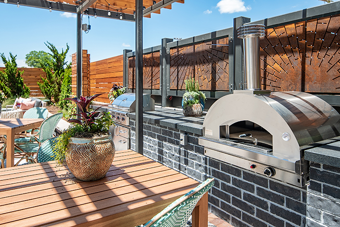 Hub South End Pizza Oven Grill Area