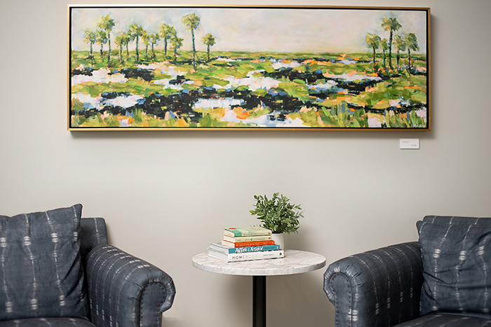 Hub South End Sitting Area-Pamela Wingard-acrylic on canvas