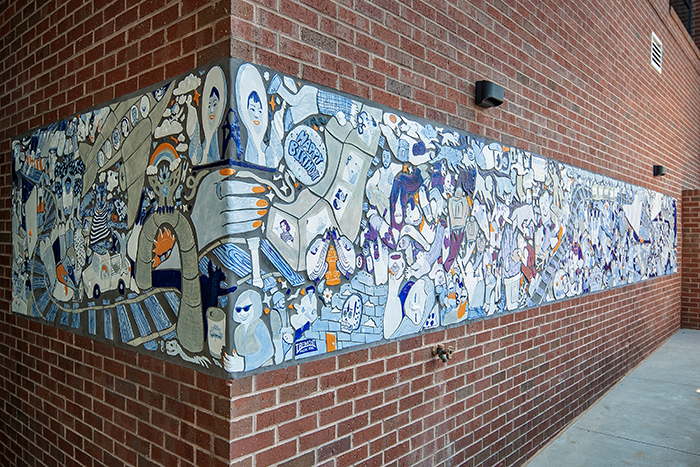 Hub South End The Hive mosaic by Grace Stott (2)