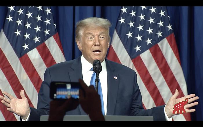 Trump speaking at RNC