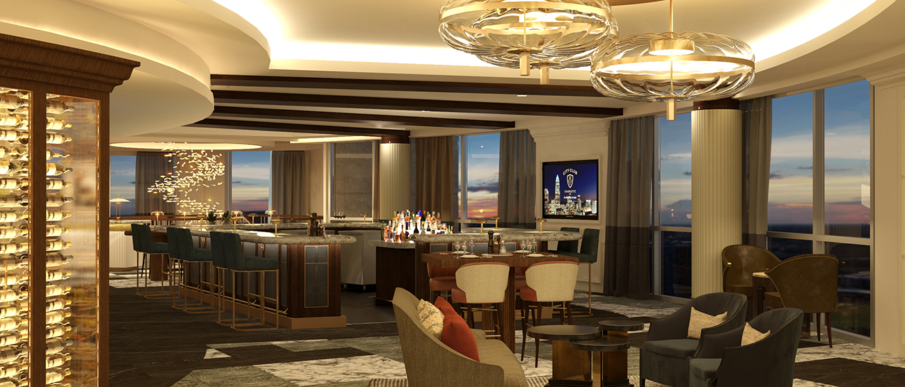 Renovations to members-only Charlotte City Club will add new cigar lounge, bar, and open-air garden
