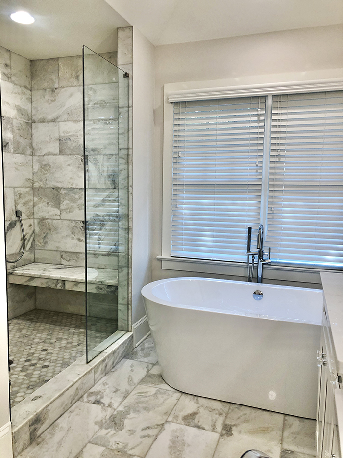Katie Roche Home Tour bath and shower