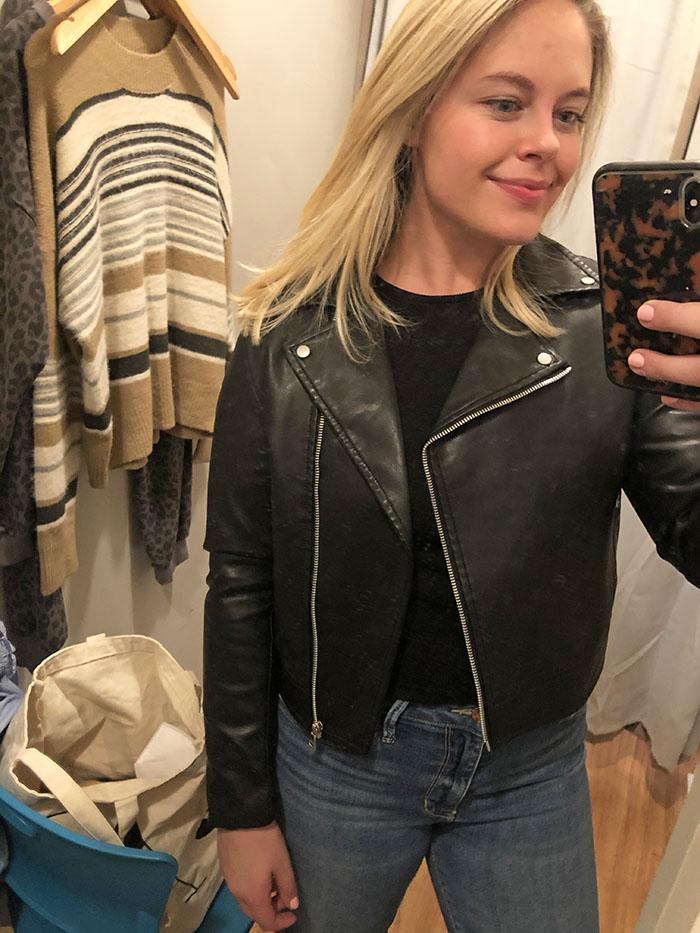 Vestique cropped leather jacket