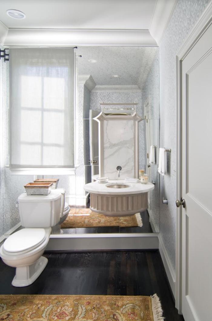 bryan gerrard powder bathroom floating sink and mirror walls copy