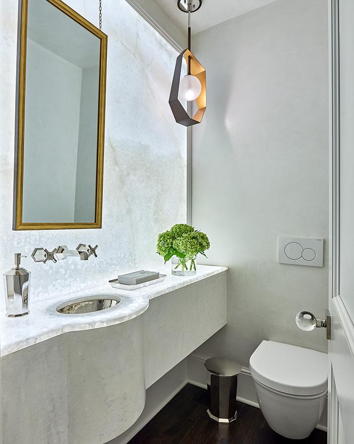 bryan gerrard powder bathroom plaster LED wall