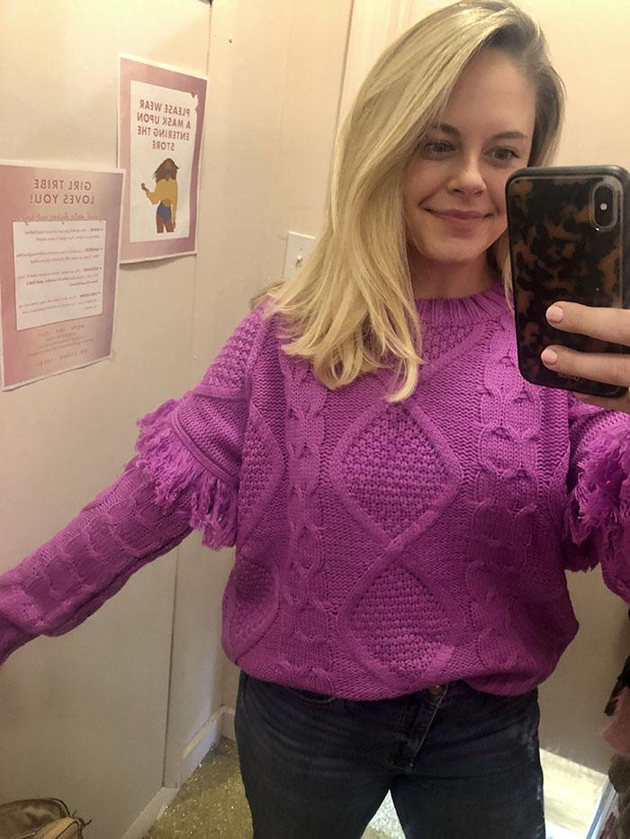 girl tribe magenta sweater