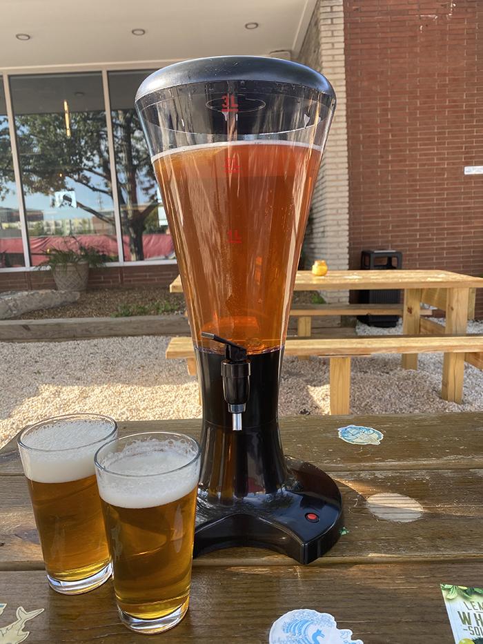 salty parrot beer tower