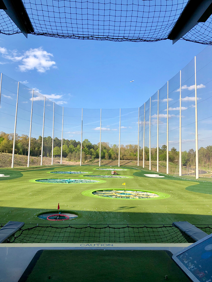 topgolf driving range bay in charlotte nc