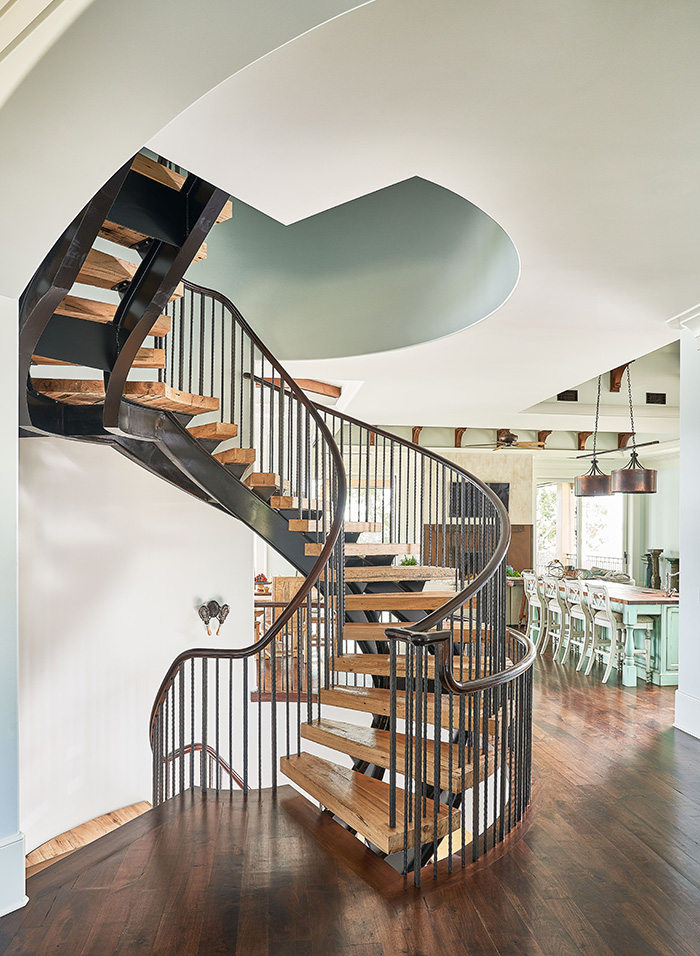 16700 Tinker Place spiral stairs