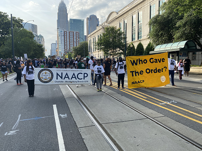 NAACP BLM protest