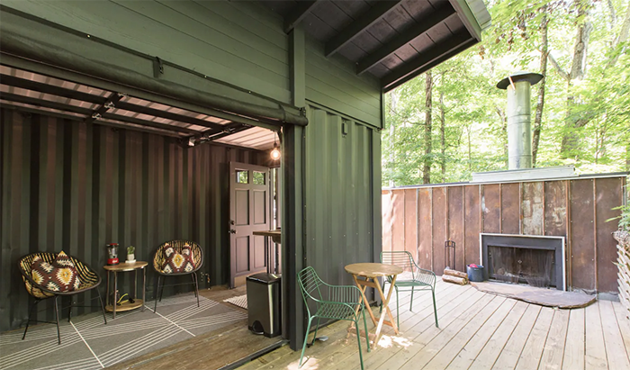 Pisgah Highlands Container Cabin outdoor