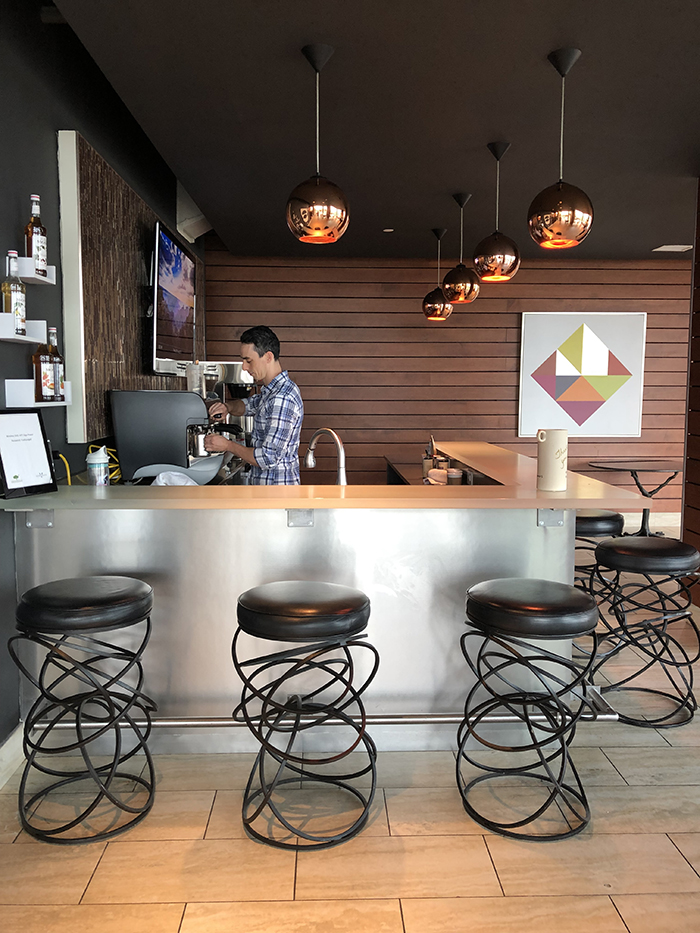 The VUE in Uptown cafe