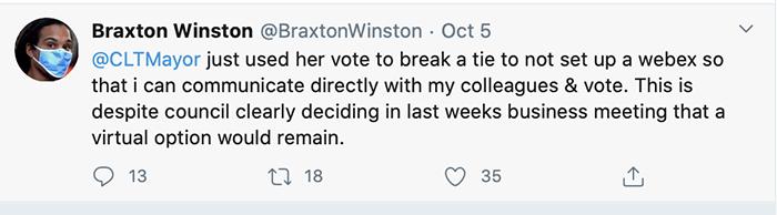 Braxton tweet about meetings