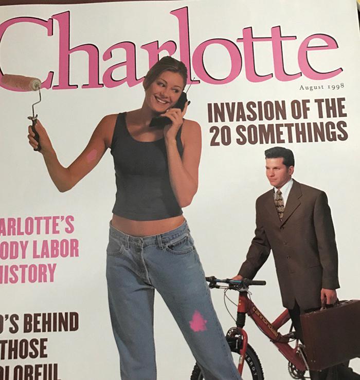 August 1998 Charlotte magazine cover