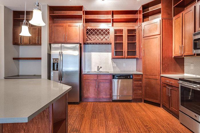 optimist park apartments alpha mill kitchen