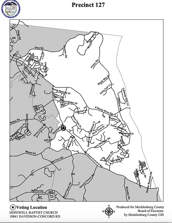 Precinct 127 Mecklenburg County election 2020