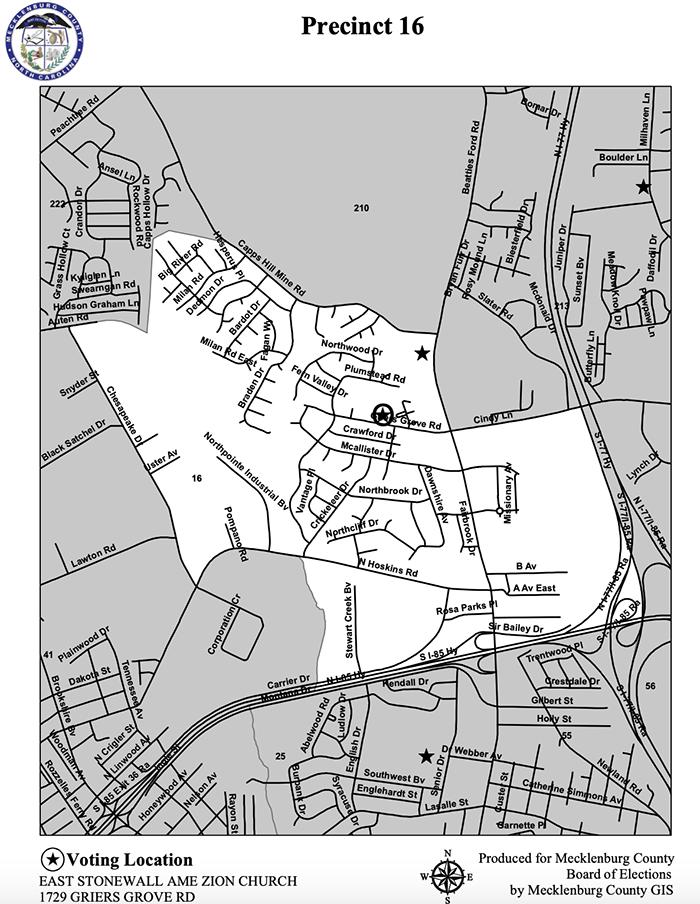 Precinct 16 Mecklenburg County election 2020