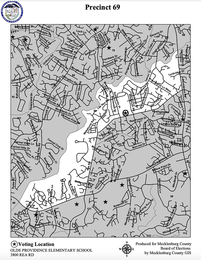 Precinct 69 Mecklenburg County election 2020