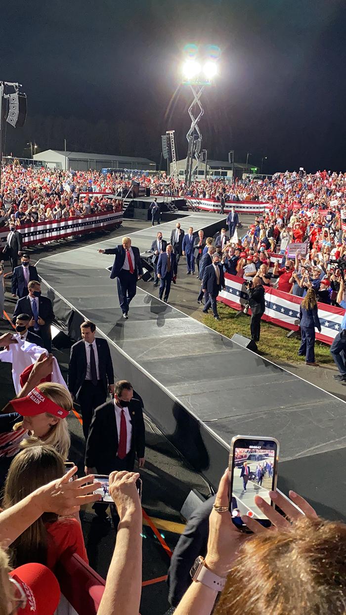 Trump Gastonia rally 2020 election October 21, 2020