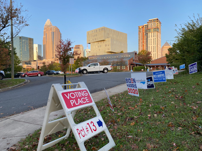 First Ward Elementary, Election Day 2020 polling site