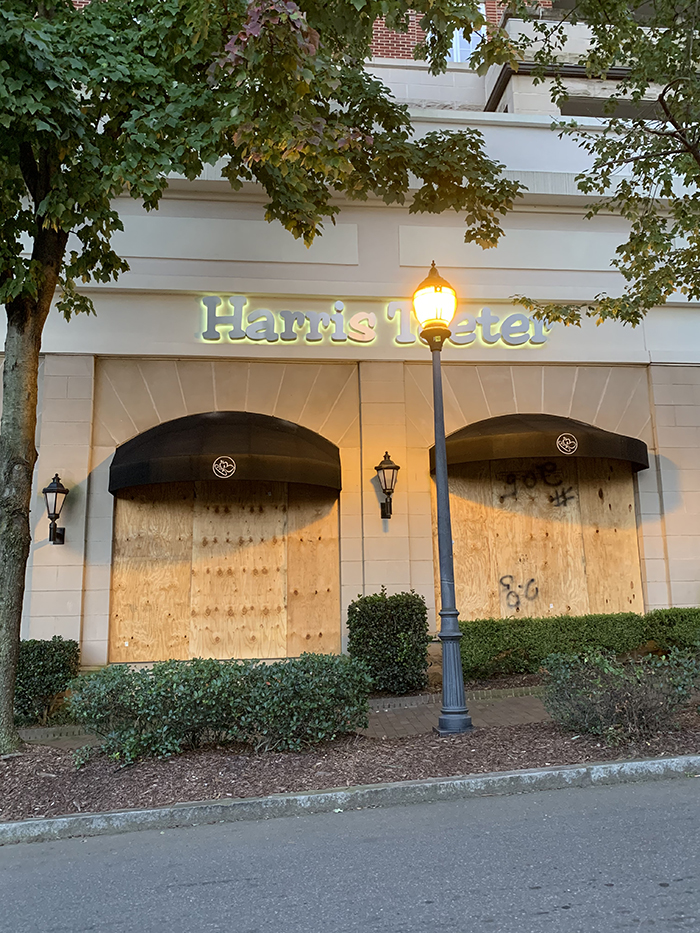 Harris Teeter boarded up election night